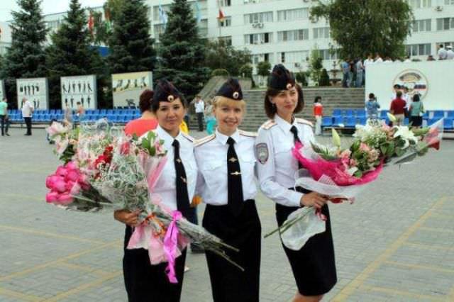 police, filles, femmes, agents de police, gardes